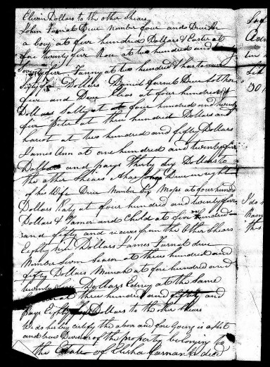 Doc B3-Division of Elisha Farnell estate Mariah to James Image 377