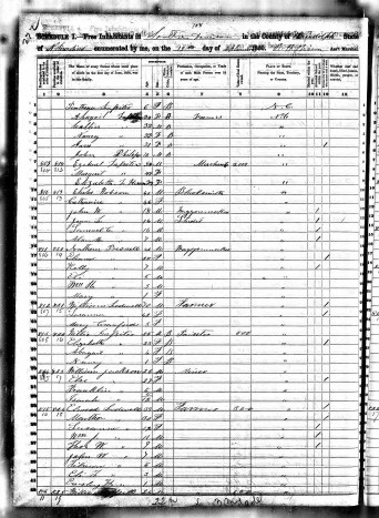 Wiley Lassiter 1850 census