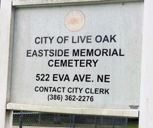 Eastview Cemetery Sign, Live Oak, Florida