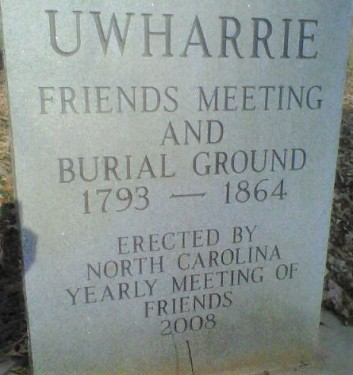 Figure 18-Uwharrie Cemetery Marker-NC Yearly Meeting (2)