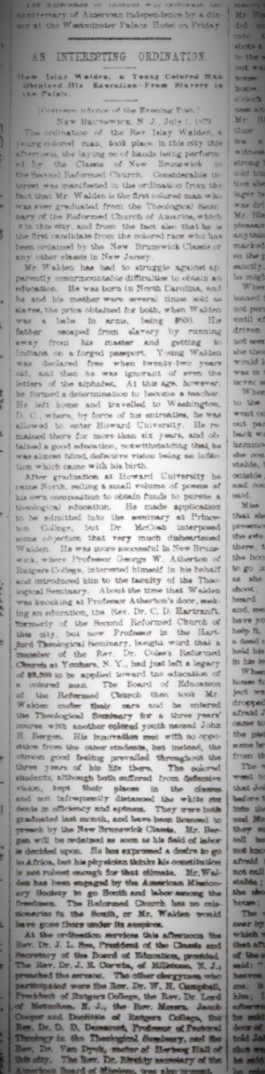 Figure 23-Islay Walden Ordination article Evening Post