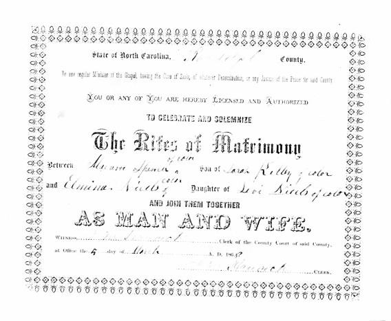 Malcom Spencer + Almina Nichols MC 1868